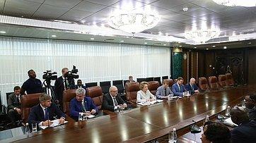 Встреча В.Матвиенко сПрезидентом Намибии Хаге Готтфридом Гейнгобом