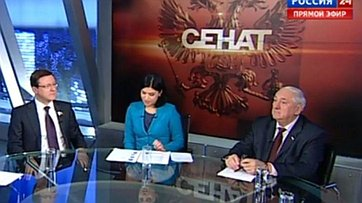 Реформа местного самоуправления. Программа «Сенат» телеканала «Россия 24»