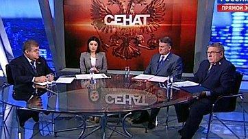 Помощь жителям Юго-Востока Украины. Программа «Сенат» телеканала «Россия 24»
