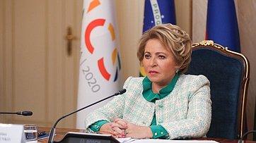 Выступление Председателя СФ В. Матвиенко наVIПарламентском форуме БРИКС