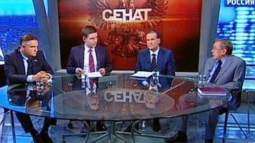 Вопросы объединения высших судов России. Программа «Сенат» телеканала «Россия 24»