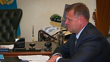 Встреча В. Матвиенко сврио губернатора Астраханской области И.Бабушкиным