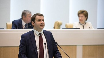 На419-м заседании Совета Федерации выступил Министр экономического развития РФ М.Орешкин