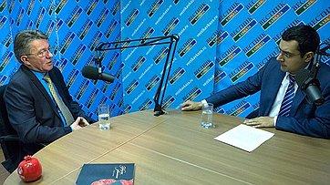 В. Озеров: Безопасность в Ингушетии - целенаправленная работа главы республики. Интервью телеканалу