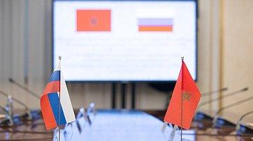 Встреча И. Умаханова c президентом Марокканского комитета мира исолидарности, вице-президентом Организации солидарности народов Азии иАфрики Талаой Ассаудом Аль-Атласси