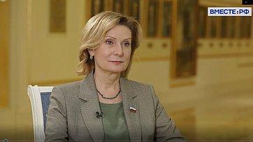 Инна Святенко опланах работы Комитета СФ посоциальной политике ввесеннюю сессию