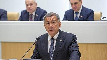 Врамках «Дней региона» вСФ выступил Президент Республики Татарстан Р.Минниханов