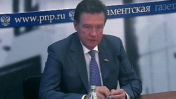 Сергей Рябухин подвел итоги работы Комитета в весеннюю сессию в пресс-центре «Парламентской газеты»