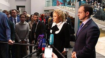 Брифинг В. Матвиенко поитогам Санкт-Петербургского культурного форума