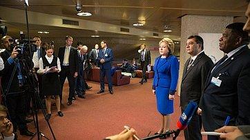 Прямая речь. В.Матвиенко: «Решение опроведении 137-й Ассамблеи МПС вПетербурге принято»