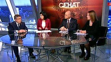 Вопросы защиты социальной сферы от последствий антироссийских санкций ЕС и США. Программа «Сенат» телеканала «Россия 24»