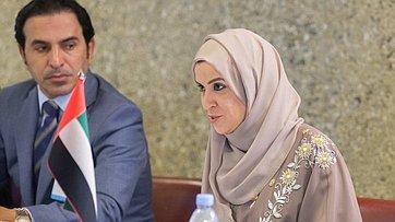 Встреча В. Матвиенко сПредседателем Федерального национального совета ОАЭ А. А.Аль-Кубейси