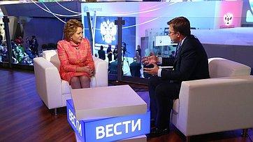 Председатель Совета Федерации обатмосфере наПМЭФ 2017