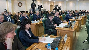 Заседание Научно-экспертного совета при Председателе СФ. Запись трансляции от22марта 2018г