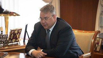 Встреча В.Матвиенко сгубернатором Ставропольского края В.Владимировым