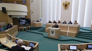 Министр культуры В.Мединский на393-м заседании Совета Федерации