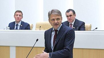 Врамках «правительственного часа» вСФ выступил Министр сельского хозяйства РФ А.Ткачев