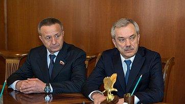 Встреча спикера Совета Федерации сгубернатором Белгородской области