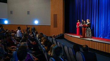 Выступление В.Матвиенко вГосударственном академическом русском драматическом театре Узбекистана