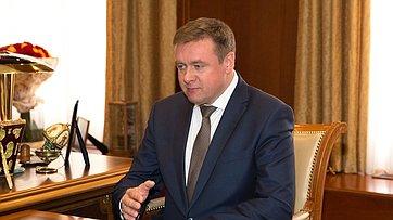Встреча Председателя СФ сврио Губернатора Рязанской области