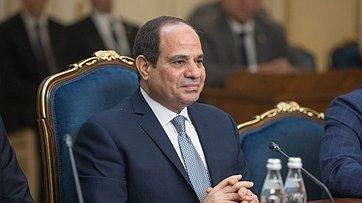 Председатель СФ Валентина Матвиенко провела встречу сПрезидентом Арабской Республики Египет Абдельфаттахом Ас-Сиси