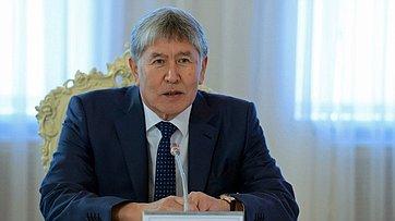 Встреча В.Матвиенко сПрезидентом Киргизской Республики А.Атамбаевым