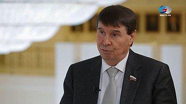 С. Цеков огодовщине вхождения Крыма всостав РФ