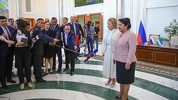 Брифинг В.Матвиенко поитогам встречи сПредседателем Сената Олий Мажлиса Узбекистана Т.Нарбаевой