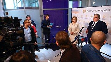 В. Матвиенко подвела итоги визита вРеспублику Мордовия