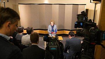 В. Матвиенко рассказала опоездке делегации СФ вЯпонию