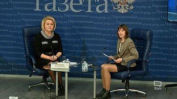Лилия Гумерова приняла участие вбрифинге «Главные вопросы 137-й Ассамблеи МПС вПетербурге» впресс-центре «Парламентской газеты»