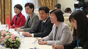 В. Матвиенко провела встречу сзаместителем Председателя Постоянного комитета Всекитайского собрания народных представителей