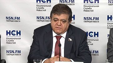 Владимир Джабаров принял участие впресс-конференции «Грузия ругается, Россия огрызается. Что дальше?» впресс-центре информационного агентства «Национальная Служба Новостей»