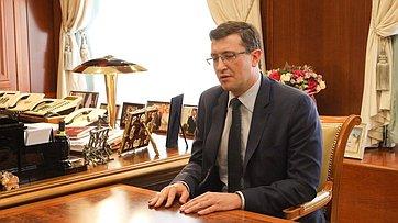 Встреча Валентины Матвиенко сгубернатором Нижегородской области Глебом Никитиным