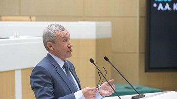 А. Климов представил отчет одеятельности Временной комиссии СФ позащите государственного суверенитета ипредотвращению вмешательства вовнутренние дела РФ