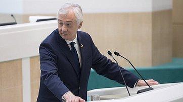 Выступление председателя парламента РСО— Алания А.Мачнева