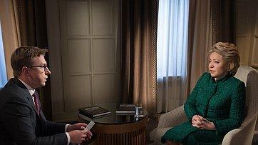 Интервью В. Матвиенко телеканалу «Россия-24»