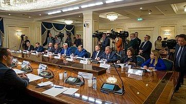 Заседание Временной комиссии СФ позащите государственного суверенитета ипредотвращению вмешательства вовнутренние дела РФ. Запись трансляции от8 октября 2019года