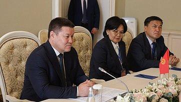 Встреча Валентины Матвиенко сПредседателем Жогорку Кенеша Кыргызской Республики Талантом Мамытовым