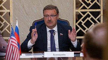 К. Косачев провел встречу сделегацией Конгресса США воглаве спредседателем Комитета Сената Р.Шелби