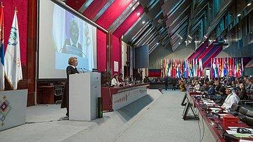 Выступление В. Матвиенко напленарном заседании 141-й Ассамблеи МПС