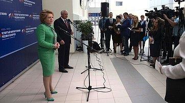 Брифинг В. Матвиенко поитогам Четвертого форума регионов России иБеларуси