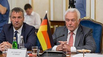 Председатель Комитета СФ помеждународным делам К. Косачев провел встречу свице-президентом Бундестага ФРГ В.Кубики
