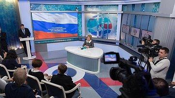 Пресс-конференция Председателя СФ В.Матвиенко поитогам осенней сессии 2017года