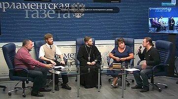 Любовь Глебова приняла участие в видеоконференции для региональных журналистов «Сергий Радонежский — покровитель обучающихся» в пресс-центре «Парламентской газеты»