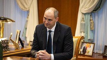 Встреча В.Матвиенко сгубернатором Оренбургской области Д.Паслером