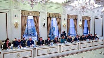 Встреча делегации СФ сПредседателем Милли Меджлиса Азербайджанской Республики О.Асадовым