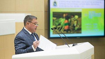 Выступление председателя Законодательного Собрания Ямало-Ненецкого автономного округа Сергея Ямкина