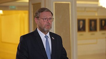 Константин Косачев опередаче российского гуманитарного груза представителям Центральноамериканского парламента