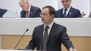 Выступление вСФ Министра культуры В.Мединского